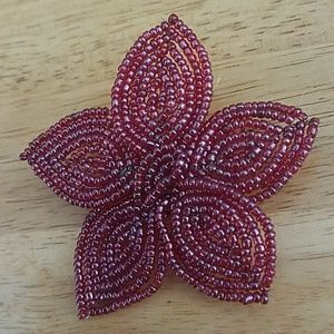 Jewelry - Handmade! Beaded Embroidery Flower Brooch